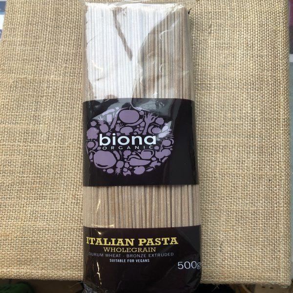 Biona organic wholegrain spagetti